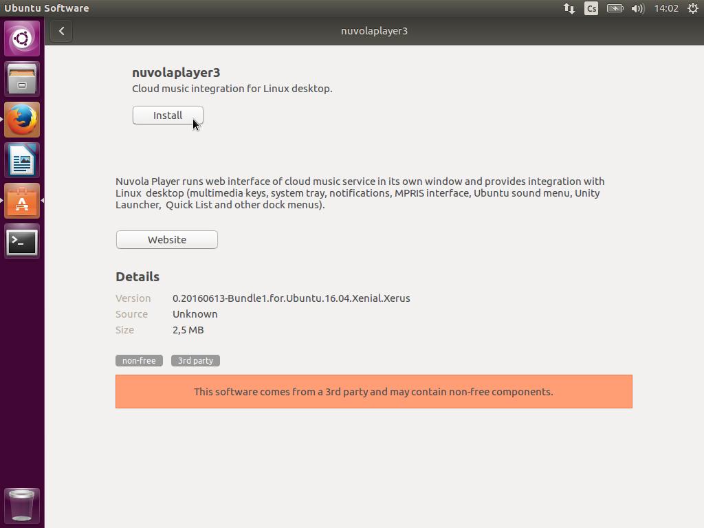 Install Nuvola Player 3 0 on Ubuntu